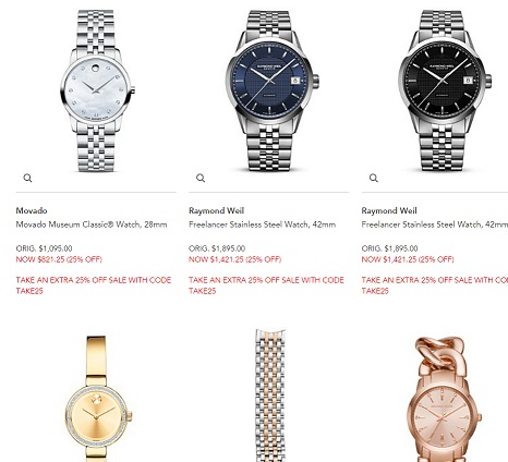 Bloomingdales 25 off Watches