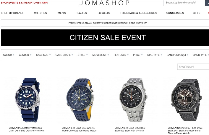 Citizen Sale Jomashop