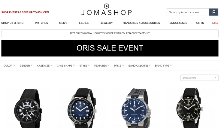 Oris Watches Memorial Day Sale