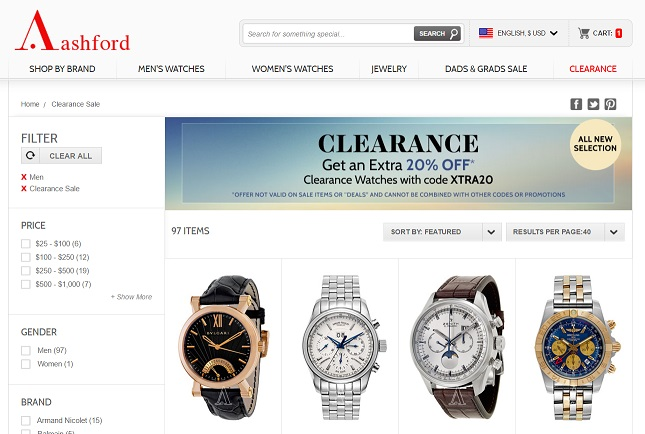 Clearance Sale Watches Ashford