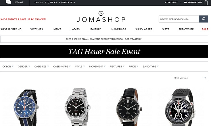 Tag Heuer Jomashop Sale